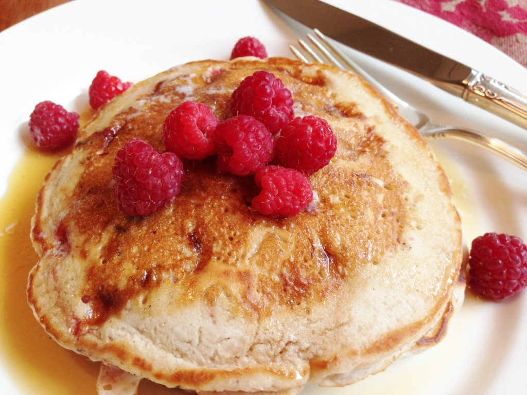 Gluten Free Strawberry Nut Pancakes