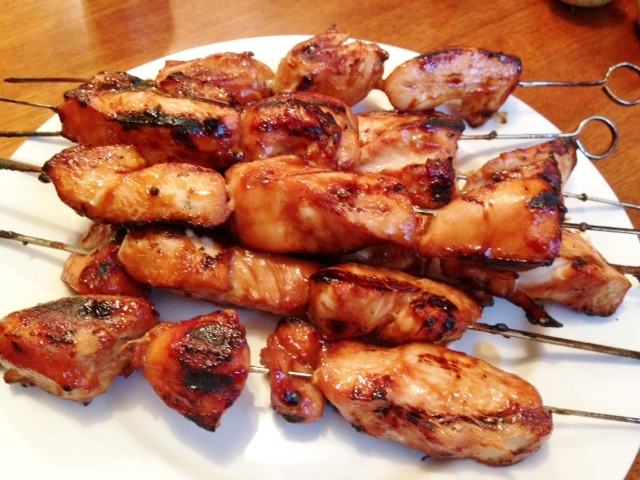 Gluten Free Bbq Chicken on Skewers