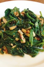 Gluten Free Stirfry Spinach with Almonds