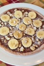 Gluten Free Nutella Pizza