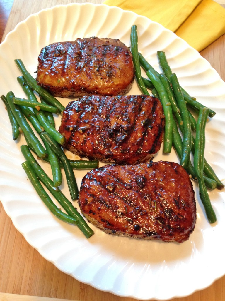 Gluten Free Rosemary-Honey Pork Chops | Gluten Free Recipes+