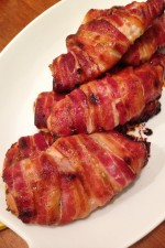 Gluten Free Bacon Wrapped Chicken with Honey