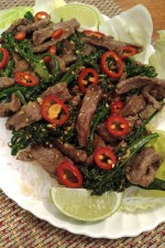 Gluten Free Sizzling Steak Stir Fry with Yam Noodles