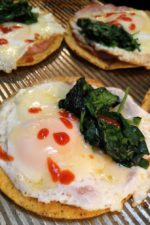 Gluten Free Tostadas with Eggs and Spinach