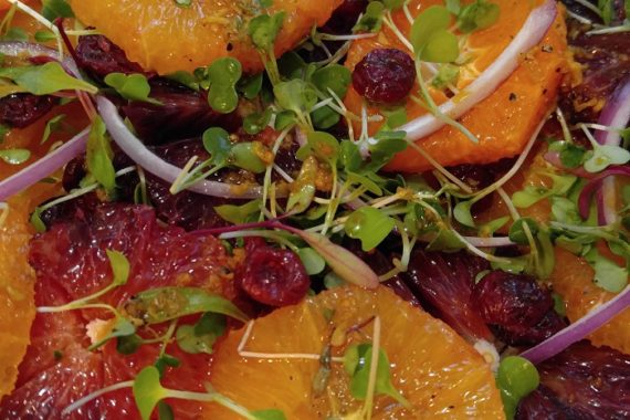 Gluten Free Citrus Salad with Ginger Dressing