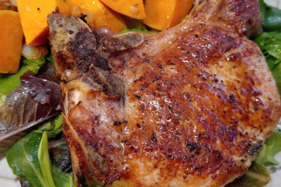 Gluten Free Pork Chops with Sweet Potatoes