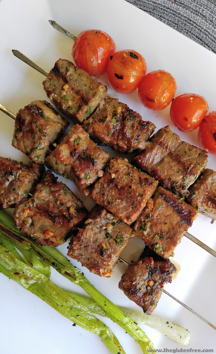 Asian Steak Kabobs Recipe — Dishmaps