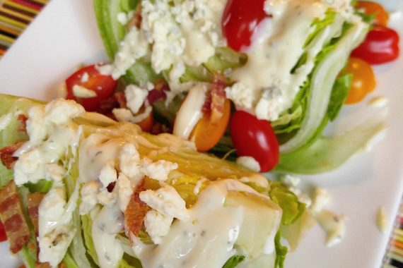 Gluten Free Bacon & Blue Cheese Wedge Salad