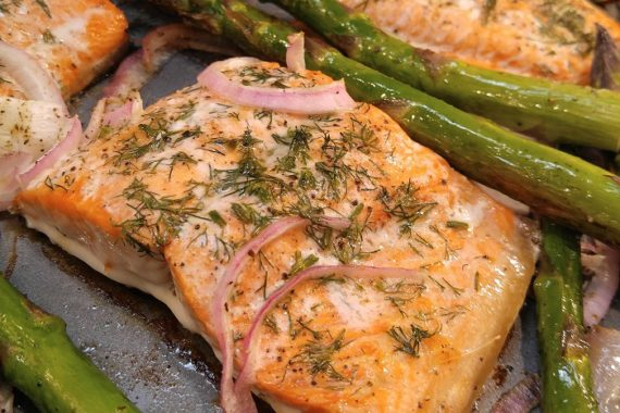 Gluten Free Baked Salmon and Asparagus