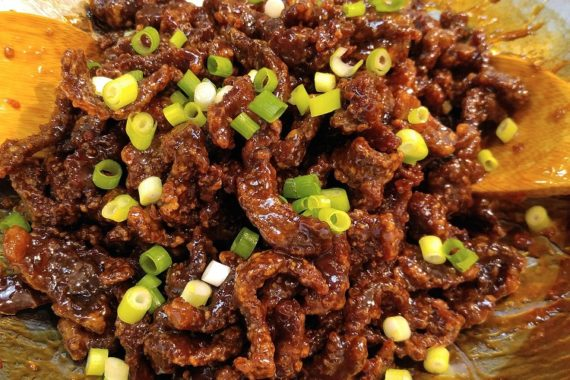 Gluten Free Crispy Beef with Sweet Chili Sauce