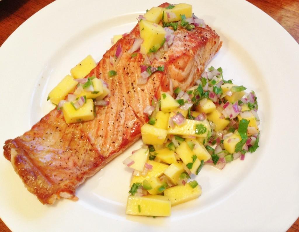 Gluten Free Fish with Mango Salsa