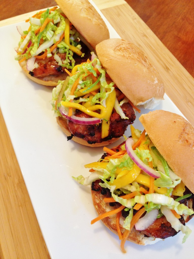 Gluten Free Teriyaki Burger With Asian Slaw The Gluten