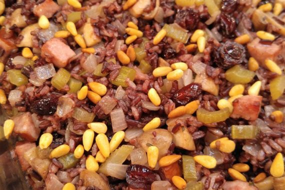 Gluten Free Kielbasa and Wild Rice Stuffing
